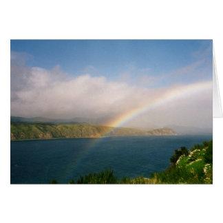Regnbåge från en bergstopp OBS kort