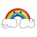 regnbåge- och molnpals photo cutout
