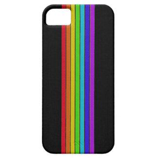 Regnbåge på det svart fodral för iPhone 5 iPhone 5 Skydd