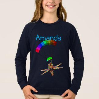 Regnbåge Skydiving vid Lycklig Juul Företag Tee Shirts