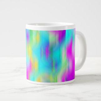 Regnbågeabstraktfärger Jumbo Mugg