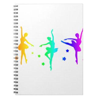 Regnbågebalett Anteckningsbok Med Spiral