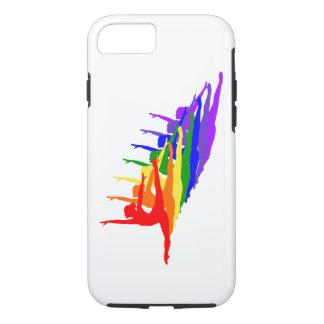 Regnbågeballerinas som hoppar fodral för iPhone 7