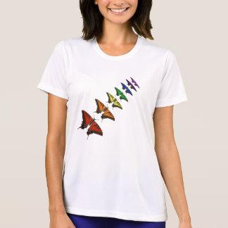 RegnbågeChakra fjärilar Tshirts