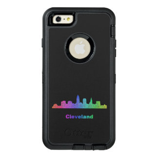 RegnbågeCleveland horisont OtterBox Defender iPhone Skal