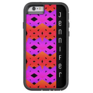 Regnbågediamantmönster med namn tough xtreme iPhone 6 case