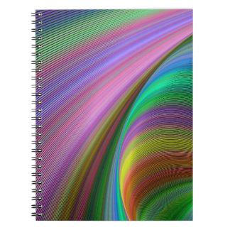 Regnbågedröm Anteckningsbok Med Spiral