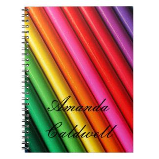 Regnbågefärgpennaanteckningsbok Anteckningsbok