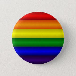 Regnbågeflagga knäppas standard knapp rund 5.7 cm
