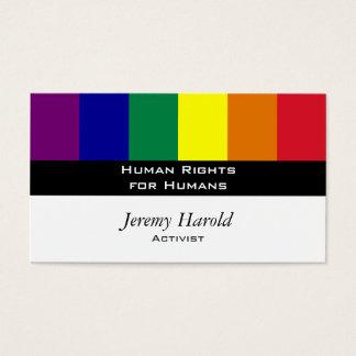 Regnbågeflagga Visitkort