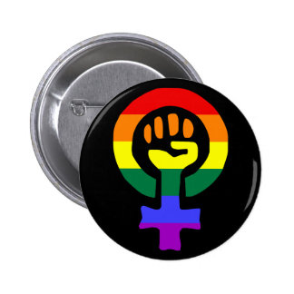 Regnbågeflaggakvinnan Power knäppas Pins