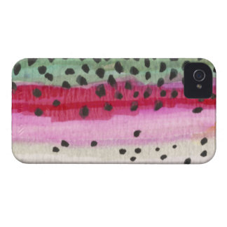 Regnbågeforellfiske iPhone 4 Case-Mate Cases