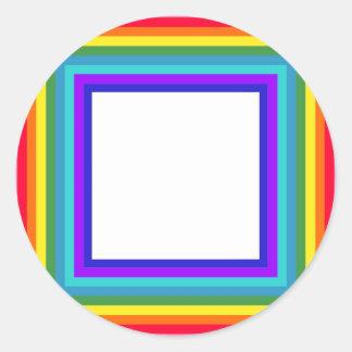 Regnbågefotoramen - kvadrera runt klistermärke