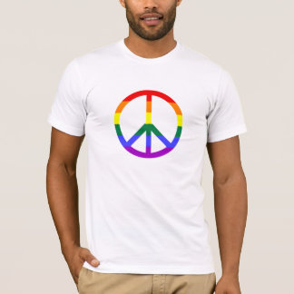Regnbågefredsteckenmanar t-skjorta tshirts