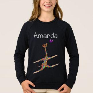 Regnbågegymnastik vid Lycklig Juul Företag T-shirt