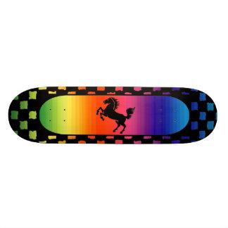 RegnbågehästSkateboard Mini Skateboard Bräda 18,5 Cm