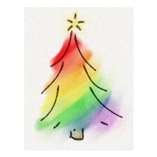 Regnbågehelgdagträd Vykort