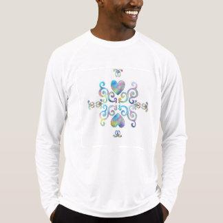 Regnbågehjärta och lilja t-shirts