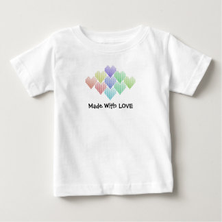 Regnbågehjärtor, babyT-tröja T-shirt
