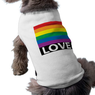 Regnbågekärlek, pride, LGBT, firar kärlek Hundtröja