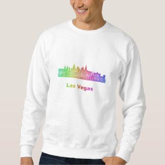 RegnbågeLas Vegas horisont Lång Ärmad Tröja