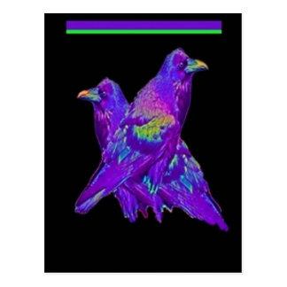 Regnbågelilan Ravens gåvor vid Sharles Vykort