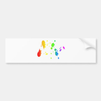 Regnbågemåla-splatter Bildekal