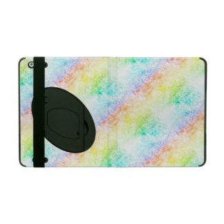 Regnbågemolnbakgrund skräddarsy eller det molniga iPad folio skal
