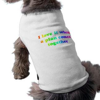 Regnbågen älskar jag den hundutslagsplatsen husdjurströja