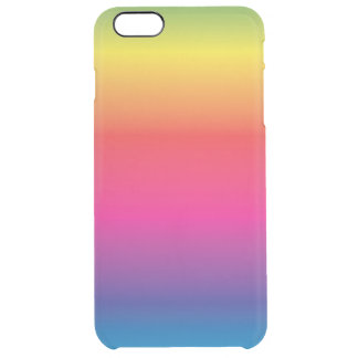 Regnbågen avbildar mallen clear iPhone 6 plus skal