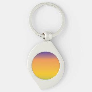Regnbågen avbildar mallen swirl silverfärgad nyckelring