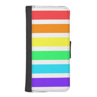 Regnbågen görar randig plånbokfodral för iPhonen iPhone SE/5/5s Plånbok