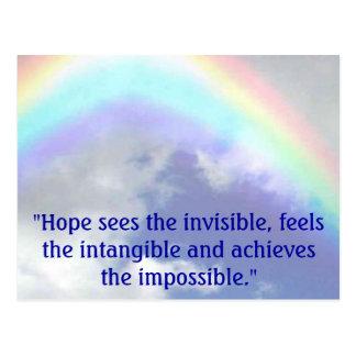 """regnbågen """"hopp ser det osynligt, vykort"""