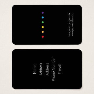 Regnbågen pricker LGBT-pride Visitkort