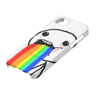 Regnbågen Puke komiskt ansikte iPhone 5 Hud