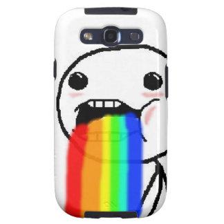 Regnbågen Puke komiskt ansikte Galaxy SIII Cover