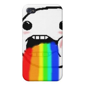 Regnbågen Puke komiskt ansikte iPhone 4 Skal