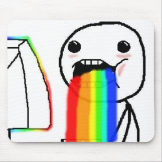Regnbågen Puke komiskt ansikte Musmattor