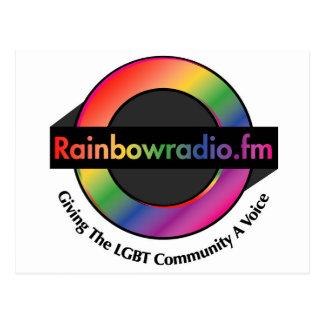 Regnbågen radiosände FM-Merchandise Vykort