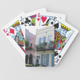 Regnbågen ror hus, Charleston SC som leker kort Spelkort