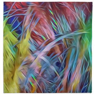 Regnbågen strandar av hårabstraktkonst tygservett