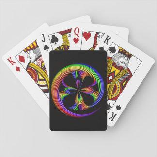 Regnbågen virvlar runt leka kortpokerklassikern spel kort