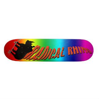 Regnbågenoshörning Skateboard Decks
