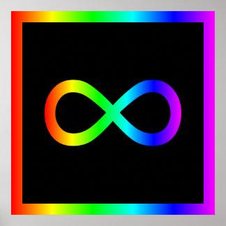 Regnbågeoändlighetssymbol Poster