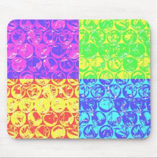 Regnbågepopkonst bubblar sjalen musmatta