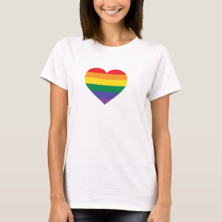 Regnbågepridehjärta Tee Shirts
