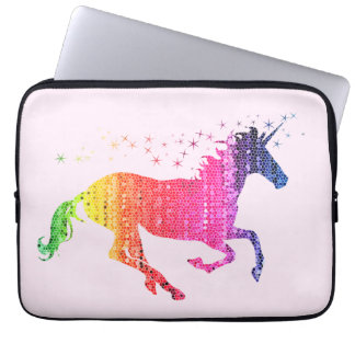 RegnbågerosaUnicorn Laptop Fodral