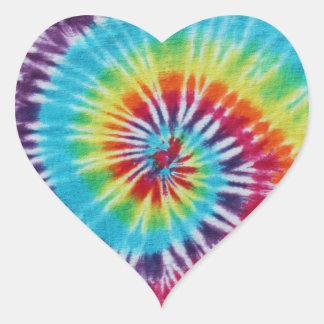 Regnbågespiral Hjärtformade Klistermärken