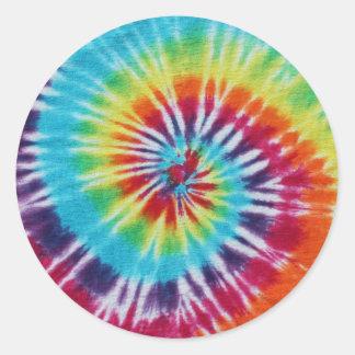 Regnbågespiral Rund Klistermärke