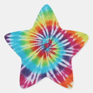 Regnbågespiral Stjärnformat Klistermärke